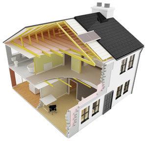 Haus Modellzeichnung